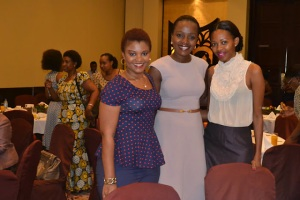From Left Myself, Robi Moro and Sophia Byanaku at the Event